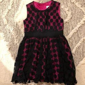 Milly minis Toddler Girl Pink/Black Party Dress